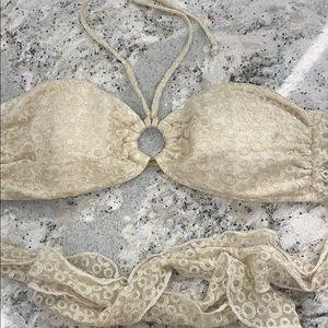 Other - Inca cream and gold bikini top